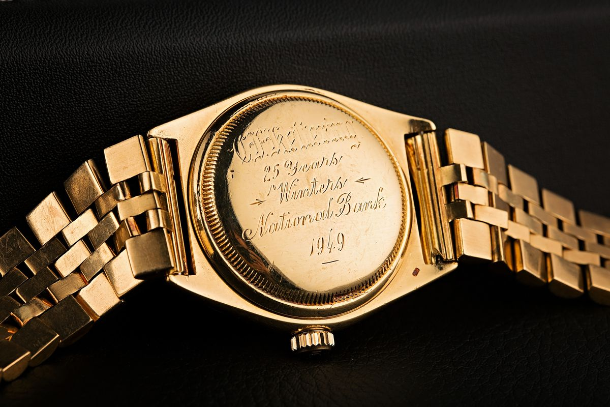 1949 Rolex Datejust Ovettone reference 5030