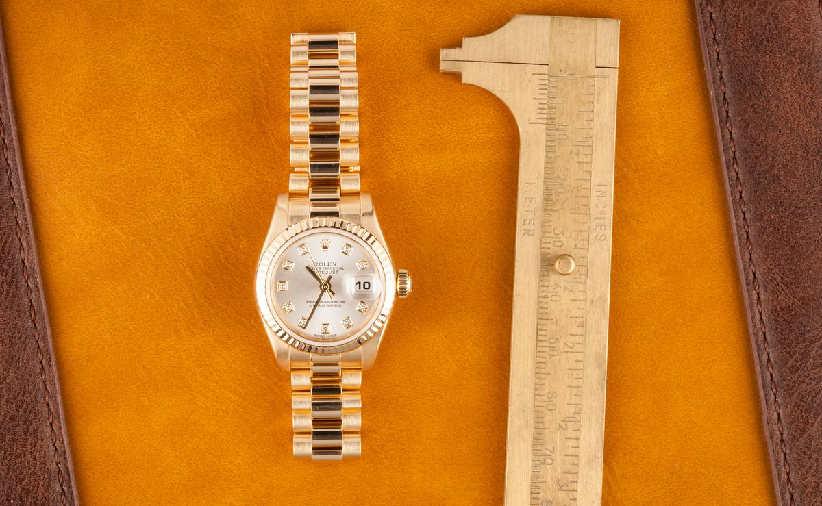 Hailey Bieber Gold Rolex Watch 179178 Diamond Dial
