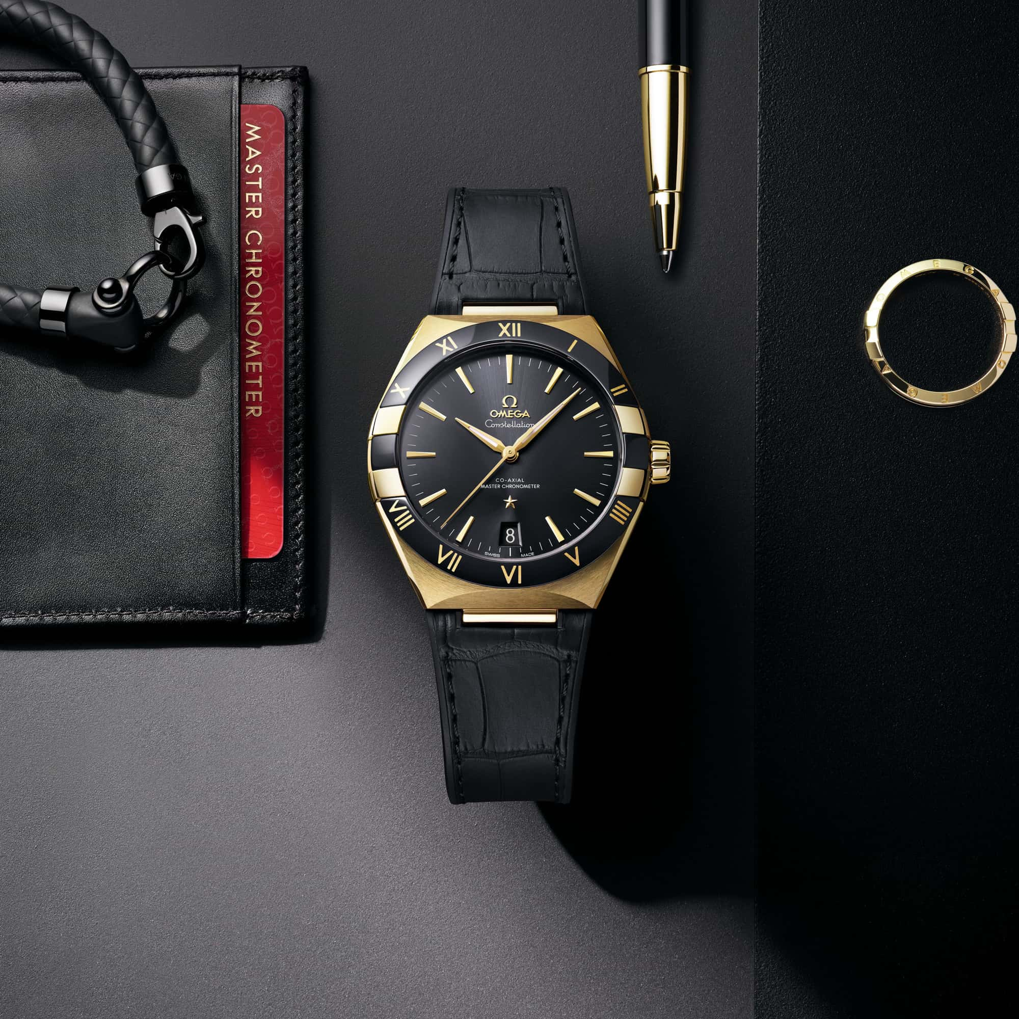 new black dial omega constellation