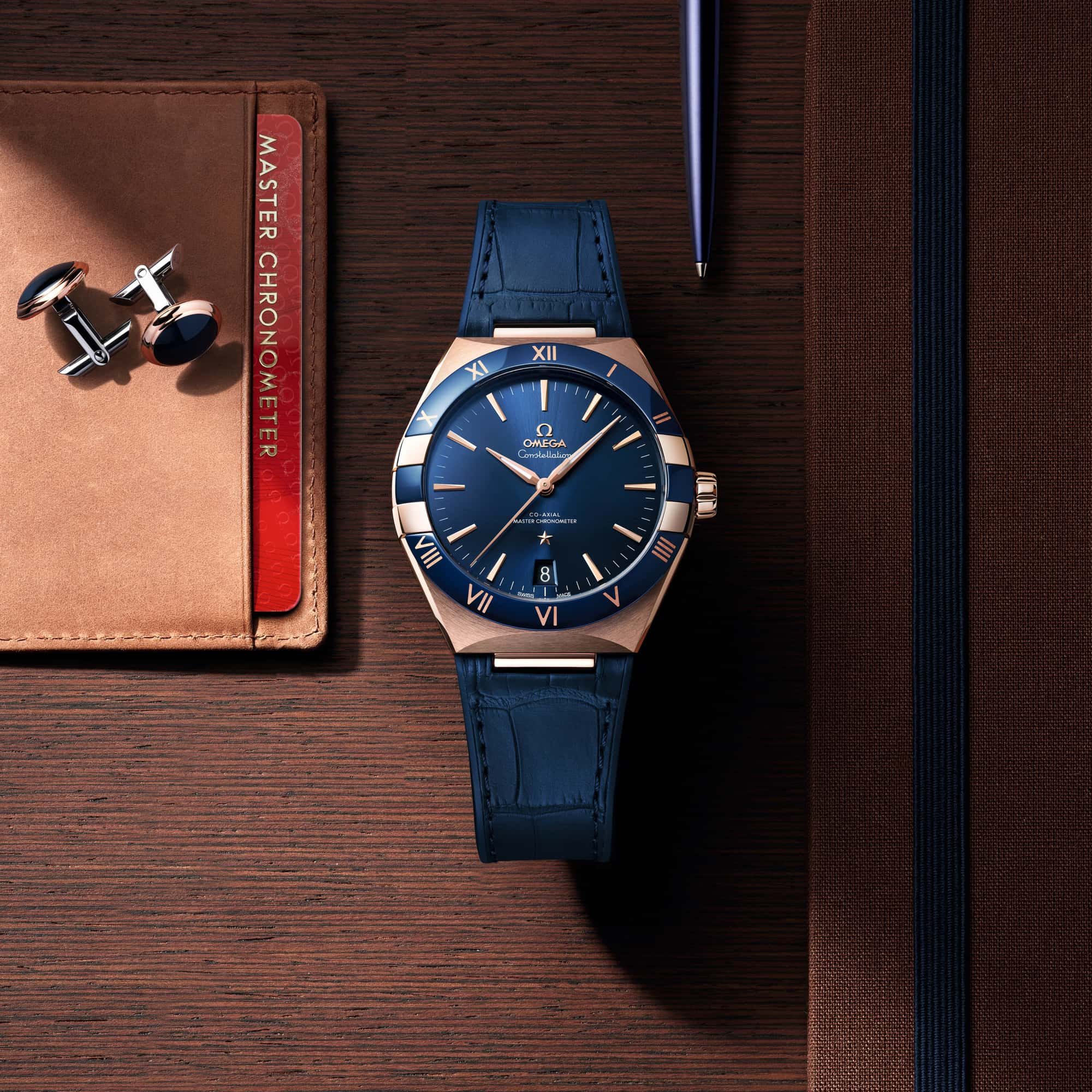 new blue dial omega constellation