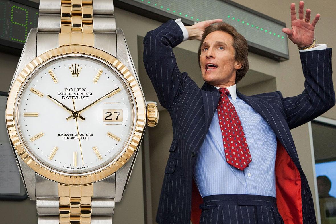 Matthew McConaughey Wolf Of Wall Street Rolex Datejust