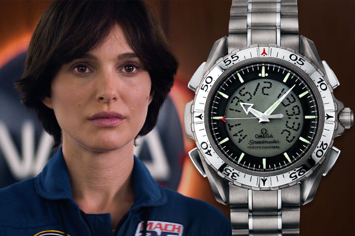 Natalie Portman Lucy in the Sky Omega Speedmaster X-33