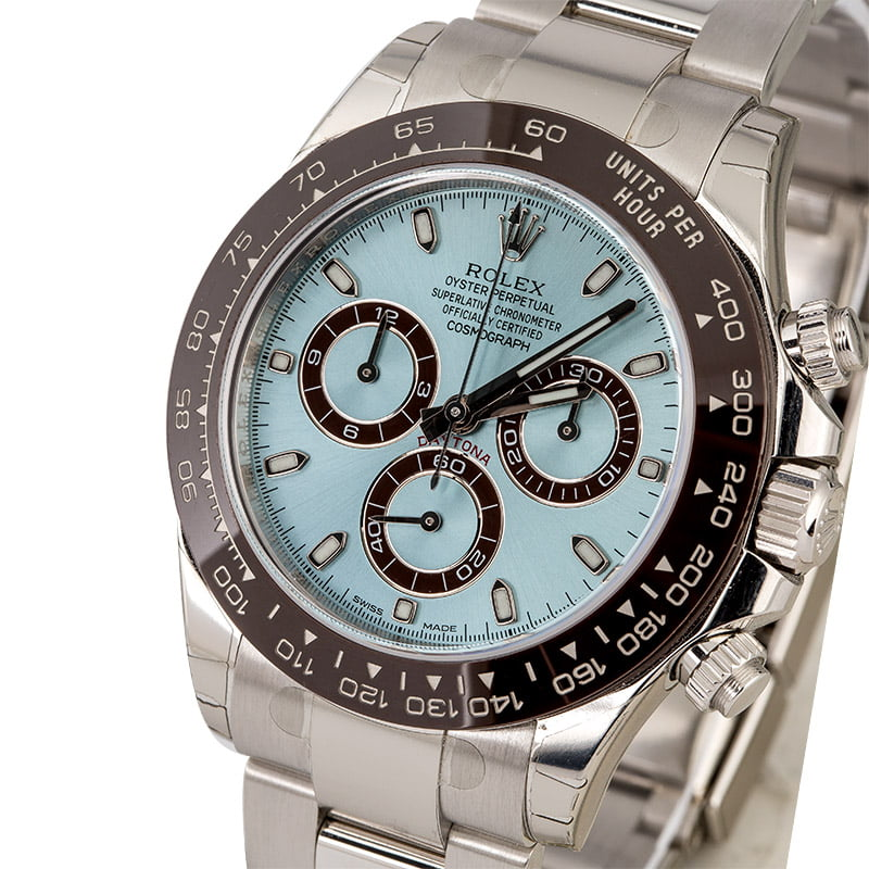 Rolex Daytona Platinum Watch Review ice blue dial