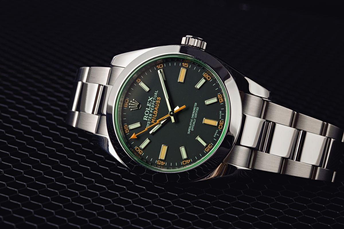 Milgauss 116400GV Green Crystal
