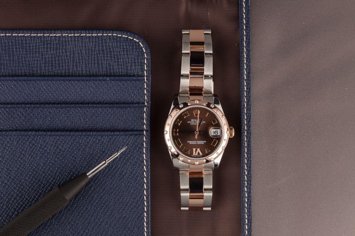 Rolex Datejust 31 Everose Rolesor Diamond Bezel