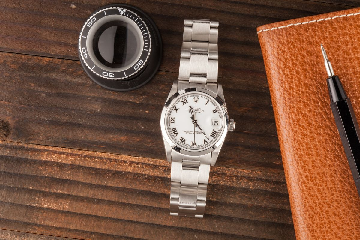 Rolex Datejust 31 Stainless Steel White Roman Dial