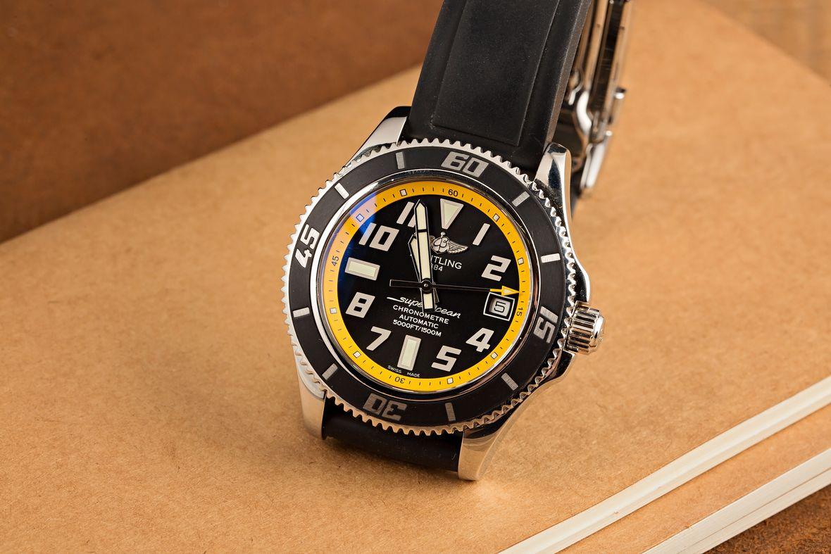 Best Luxury Watches Breitling Superocean Automatic 42 Yellow Dial