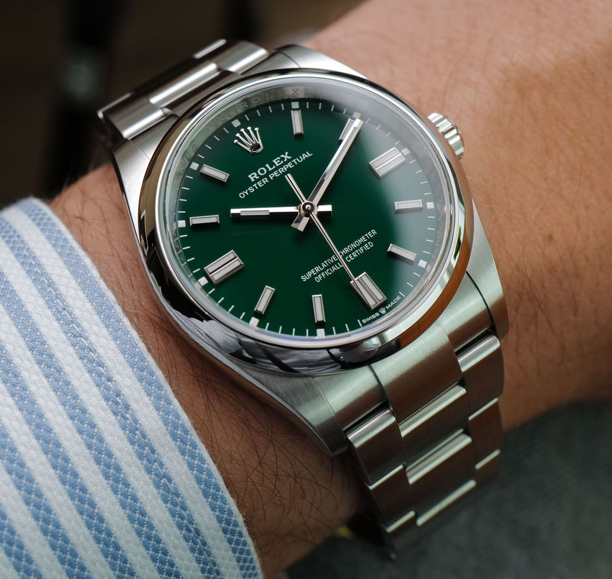 Rolex Oyster Perpetual 36mm 126000 Green Dial
