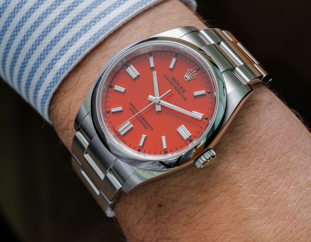 Rolex Oyster Perpetual 36mm 126000 Coral Red Dial