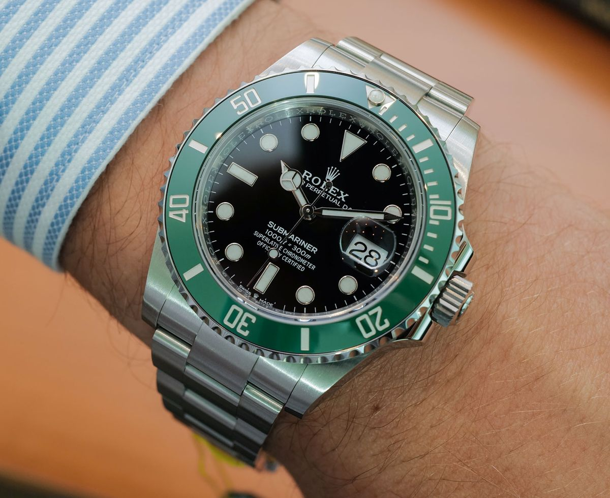 Green Rolex Submariner 126610LV Stainless Steel