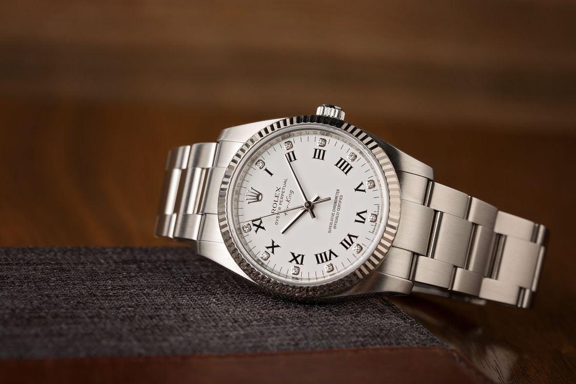 Rolex Air-King 114234 Diamond Dial Fluted Bezel