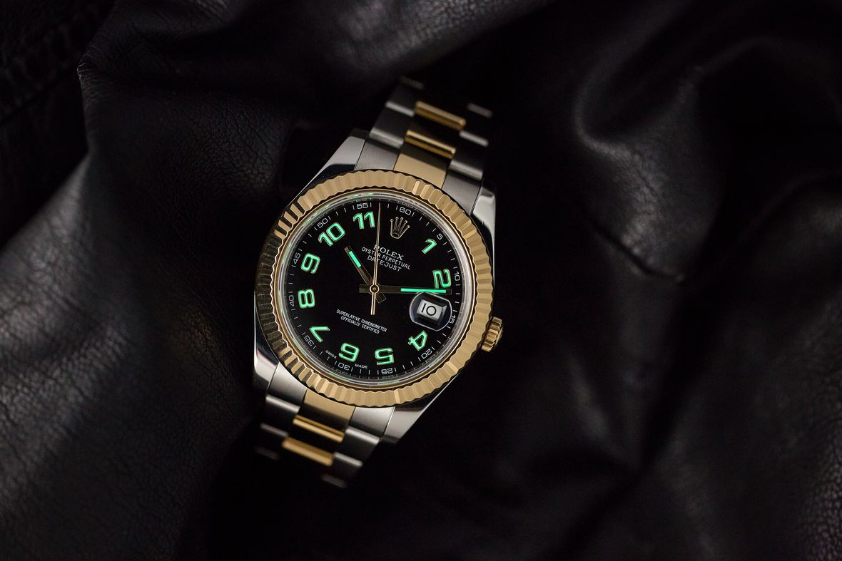 Rolex Datejust II 41mm Arabic Dial Lume