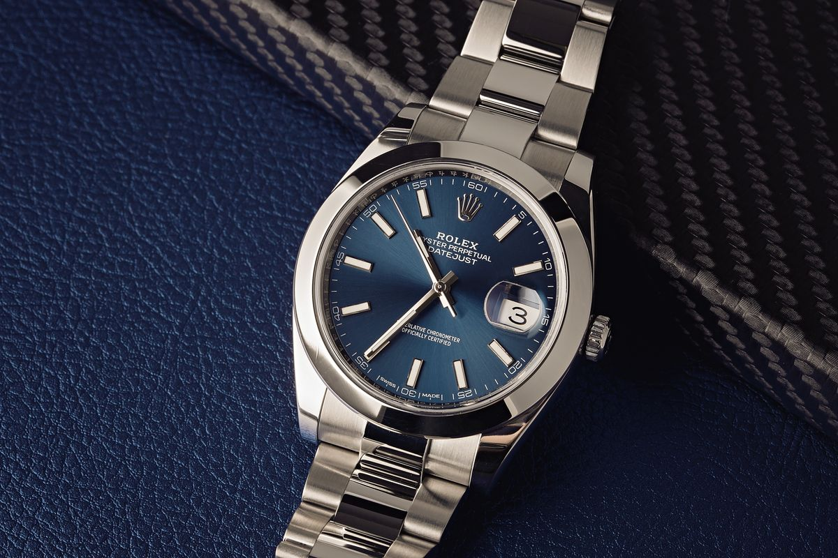 Stainless Steel Rolex Datejust 41 Blue Dial 126300