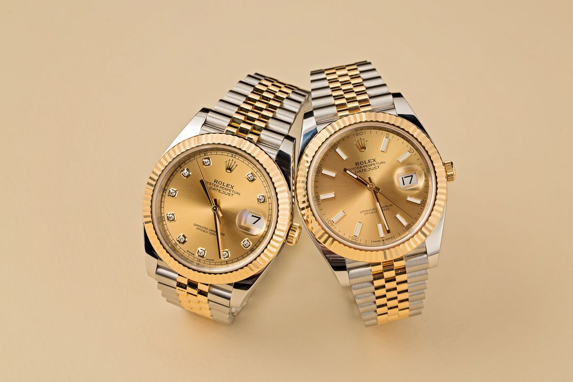 Rolex Datejust 41 Two-Tone Steel and Gold Watches Jubilee Bracelet