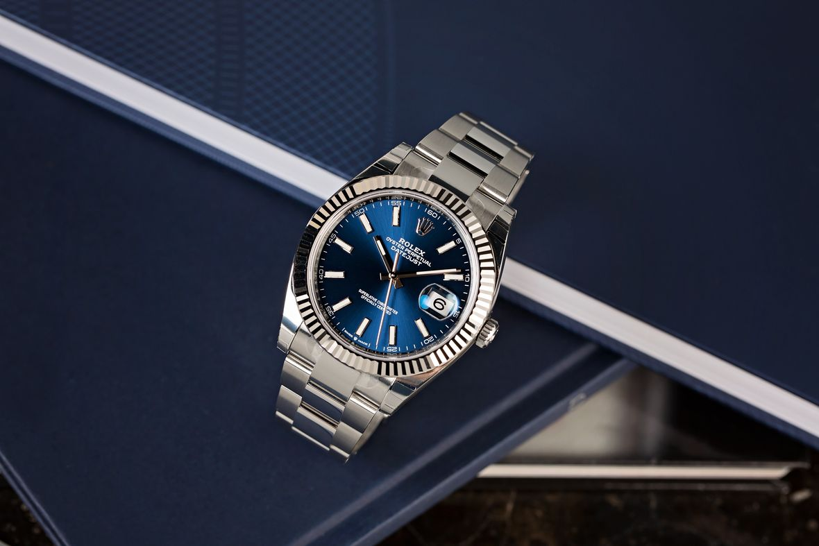 Rolex Datejust 36 stainless steel white Rolesor blue dial