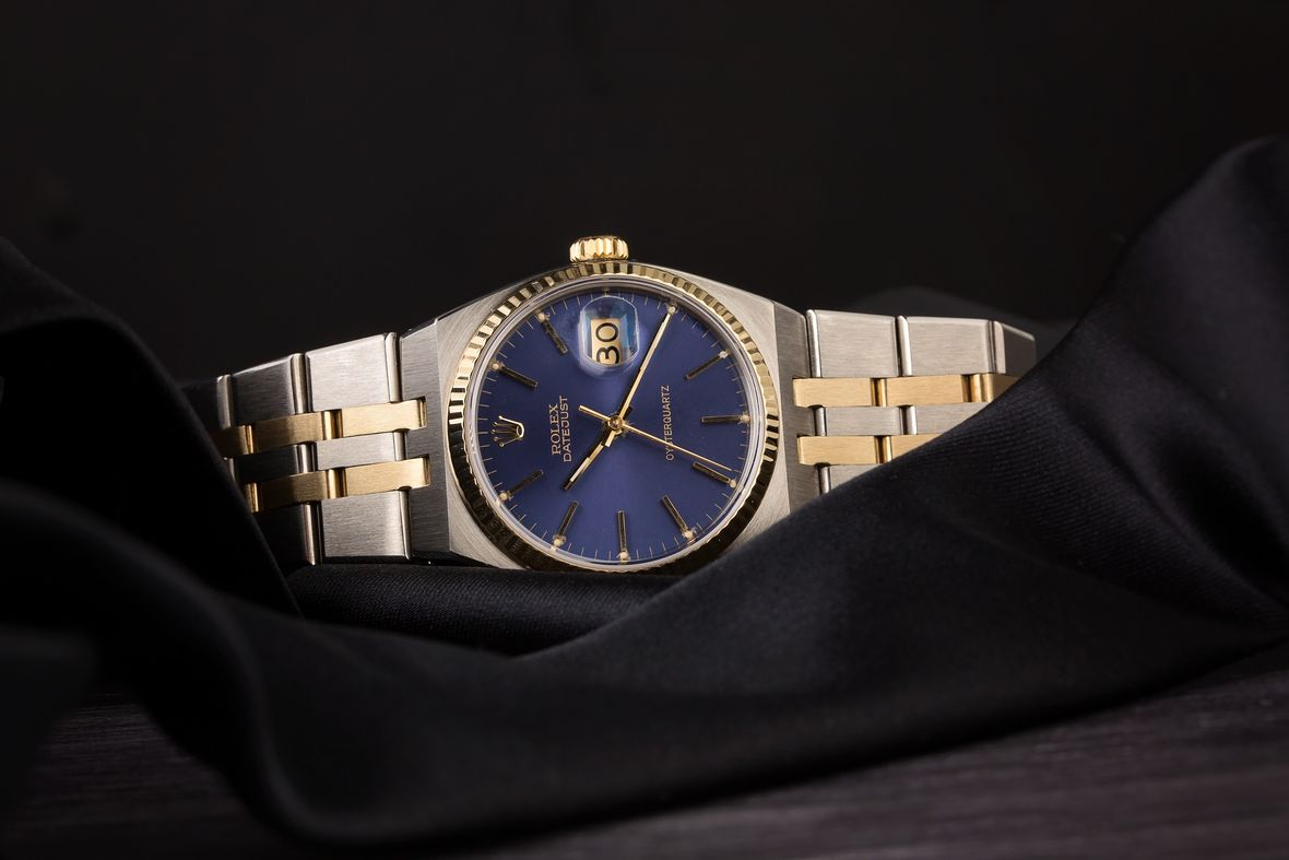 Rolex Oysterquartz Datejust Two-Tone Blue Dial