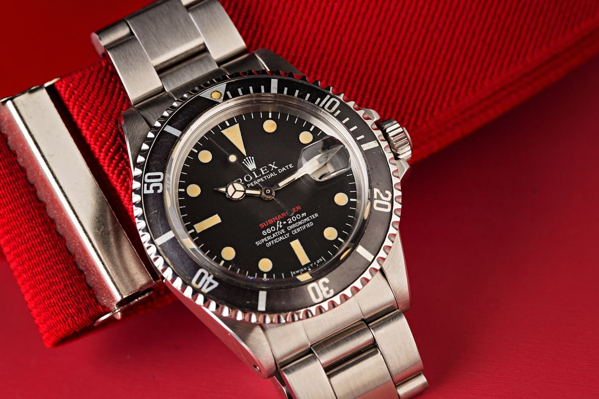 Red Rolex Submariner 1680