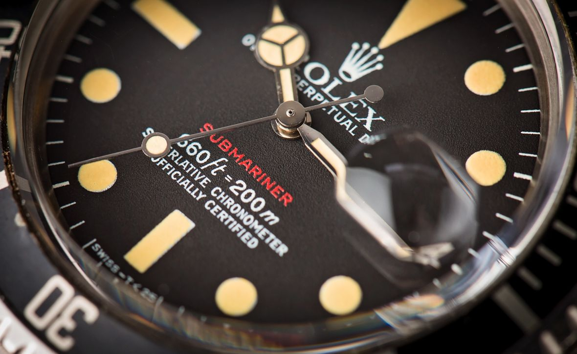 Vintage Red Rolex Submariner 1680 Dial Guide