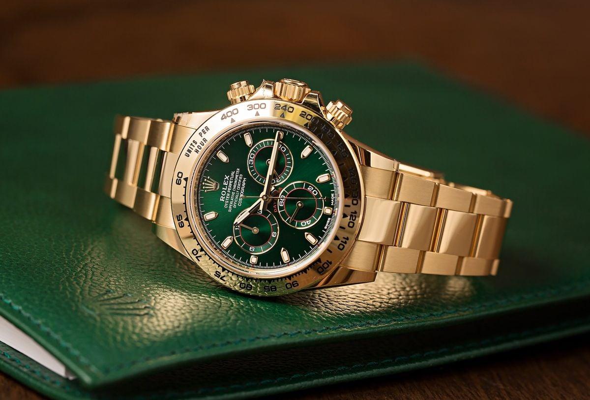 Gold Rolex Daytona Green Dial 116508