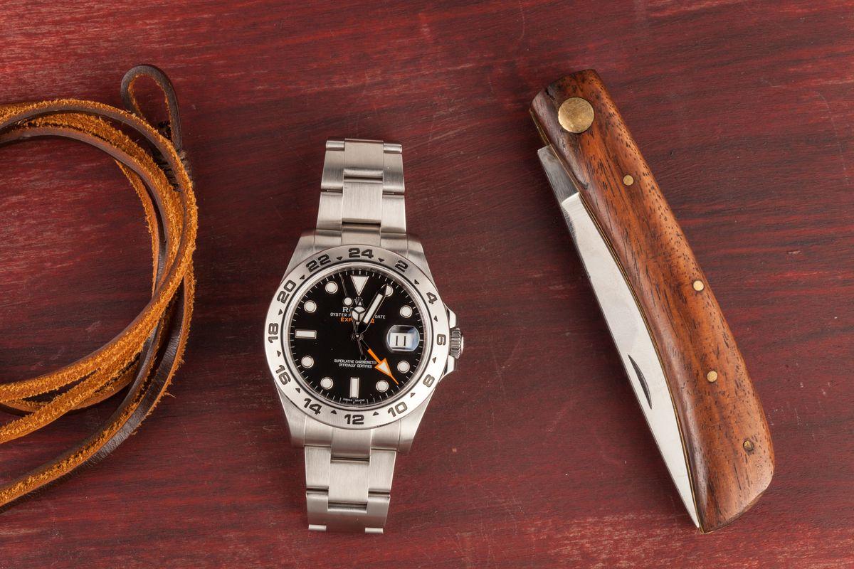 Black Dial Rolex Explorer II 216570