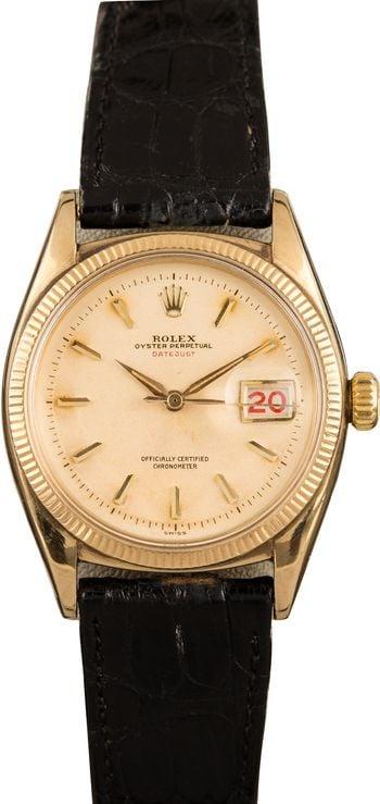 Vintage Rolex Datejust 36 Gold 6305