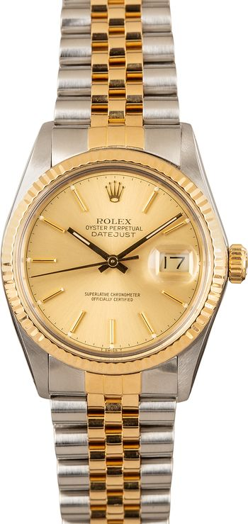 Rolex Datejust 36 Two-Tone Steel Gold 16013