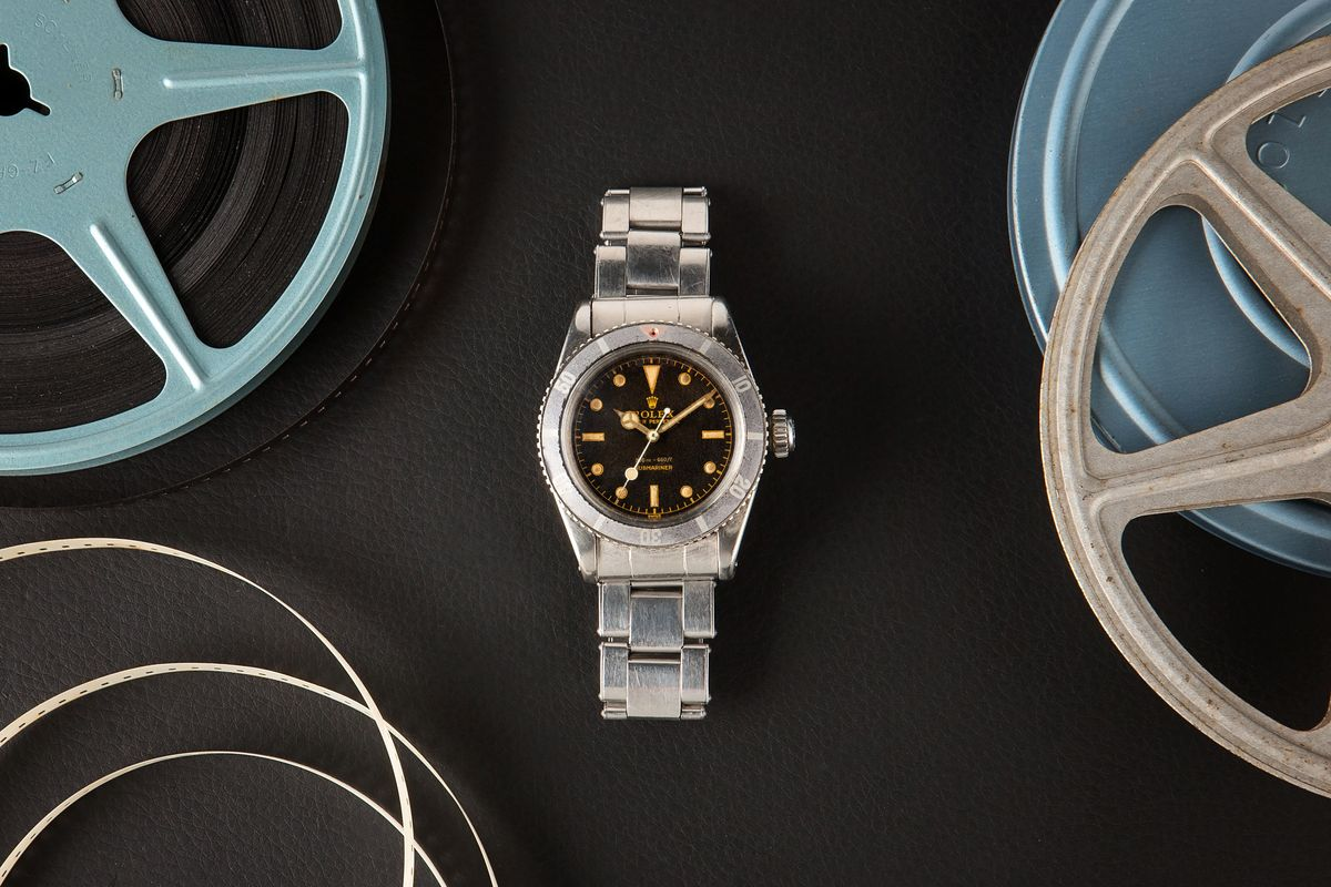 Luxury Watch Auction Iconic Watches Hollywood - Rolex Submariner 6538 Sean Connery James Bond