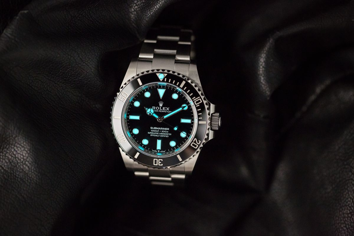 Black Rolex Submariner 124060 No-Date