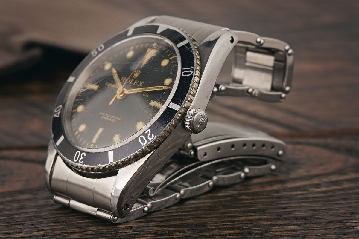 Vintage Rolex Submariner 6204 Dive Watch