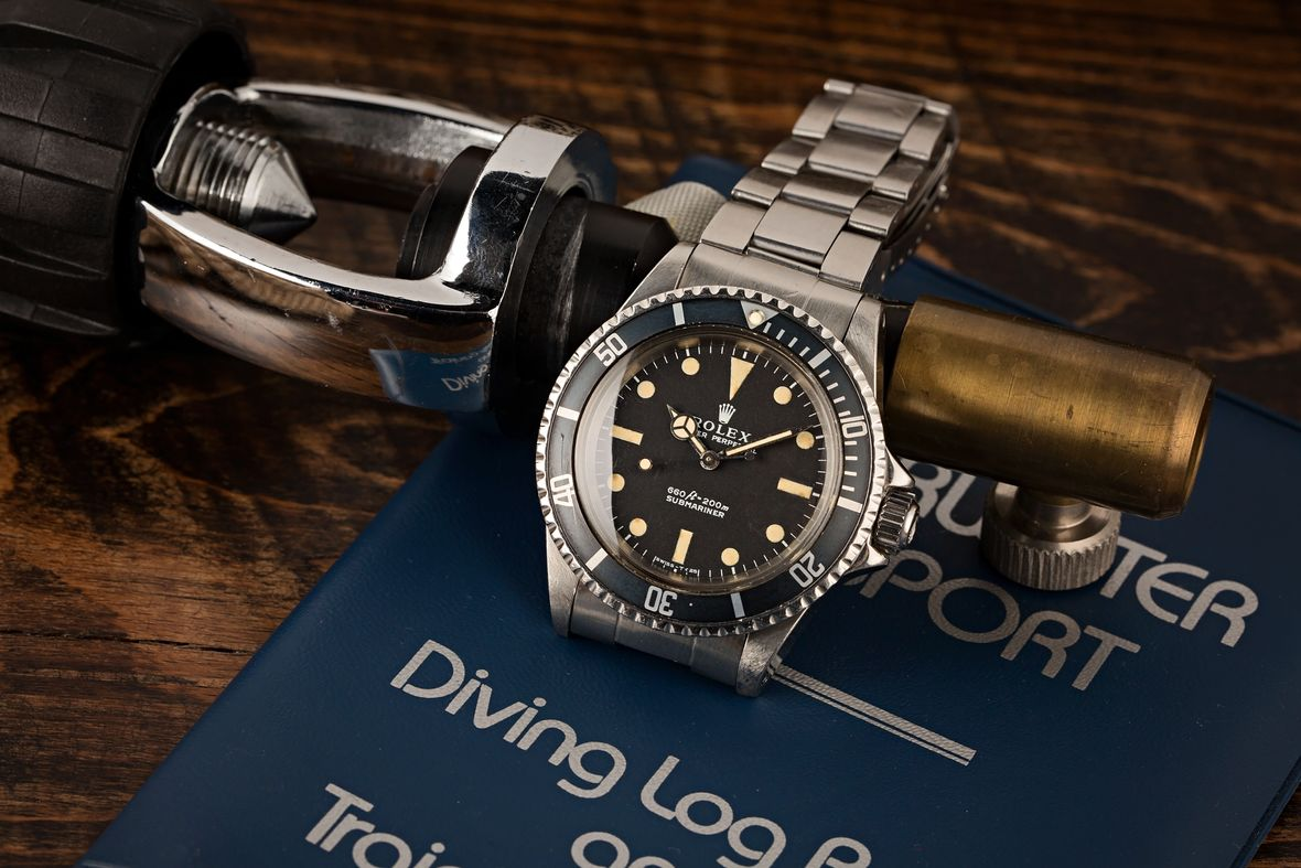 Vintage Rolex 5513 Submariner COMEX Prototype Divers Watch