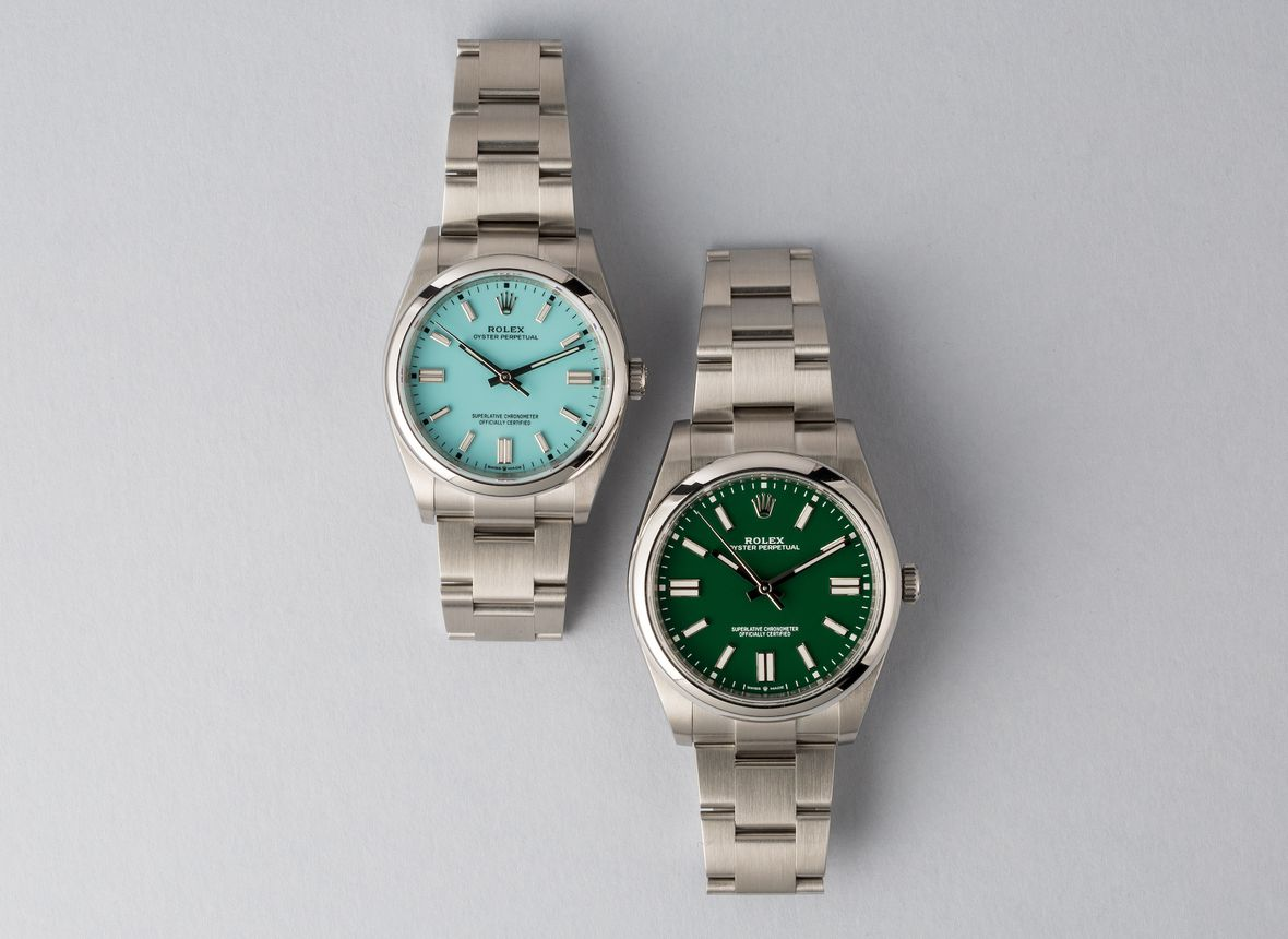 Rolex Oyster Perpetual 2020 Turquoise Blue Green Watches