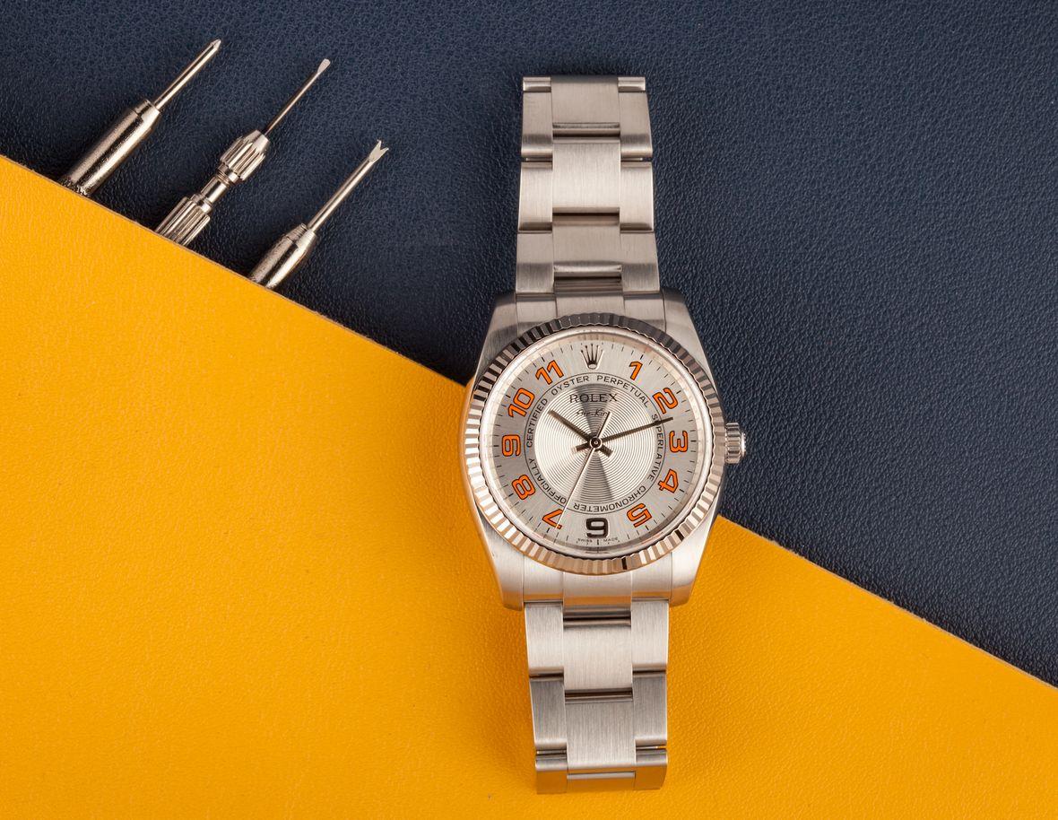 Rolex Air-King 114234 Orange Arabic Circle Dial