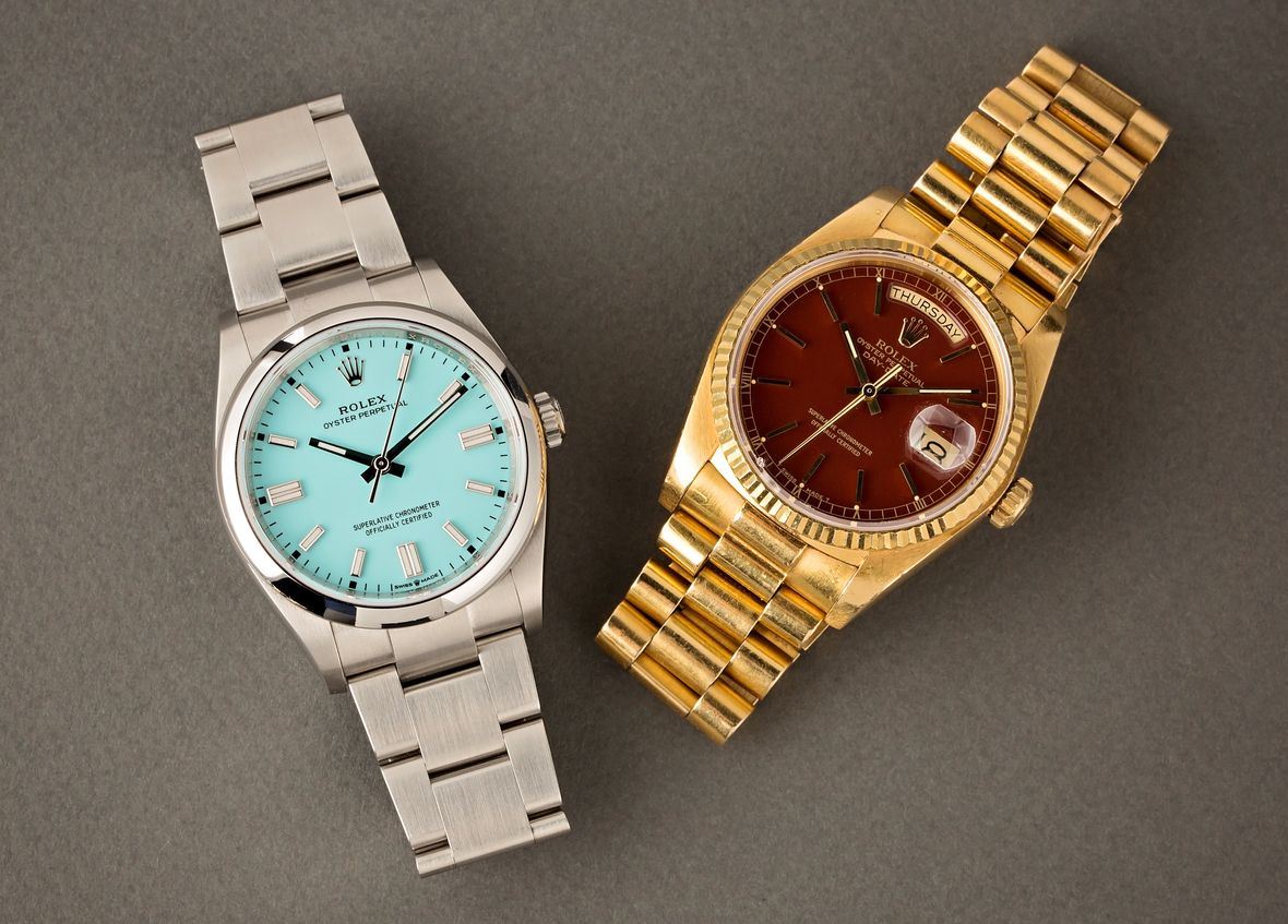 Rolex Stella Dial vs Oyster Perpetual turquoise oxblood