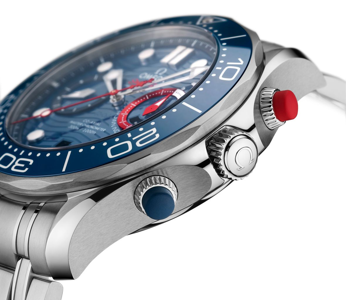 Omega Seamaster Diver 300M America's Cup Edition Rubberized Chronograph Pushers
