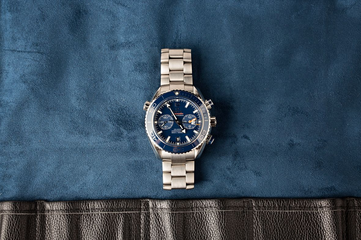 Best Omega Seamaster Planet Ocean Chronograph Watch Titanium