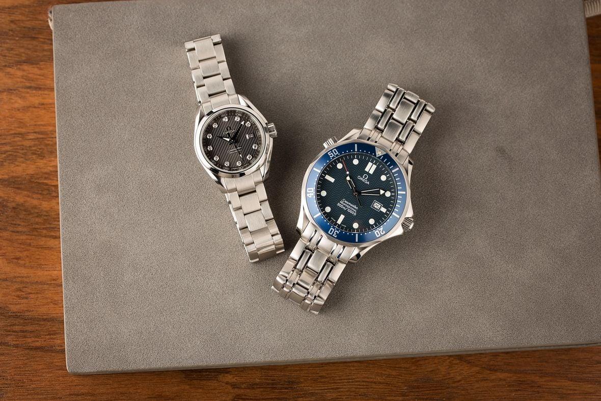 Omega Watches with Quartz Movements Seamaster Diver Aqua Terra