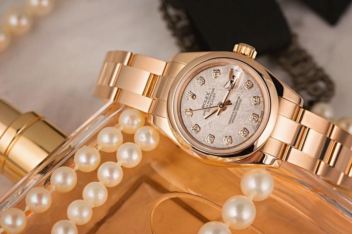 Rolex Lady-Datejust Watch Meteorite Dial Everose Gold