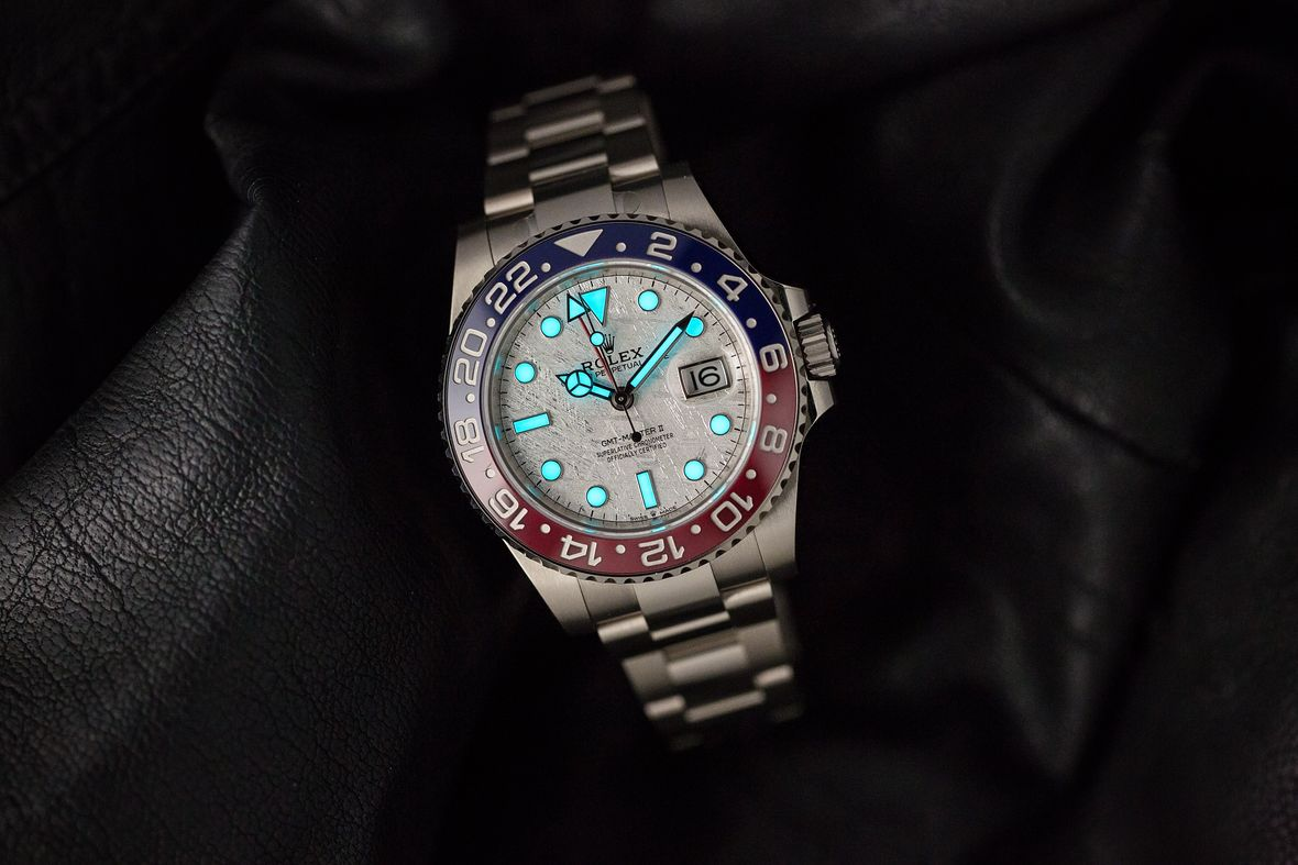 What Is the Meaning of GMT Rolex Watches 126719 BLRO Meteorite Dial
