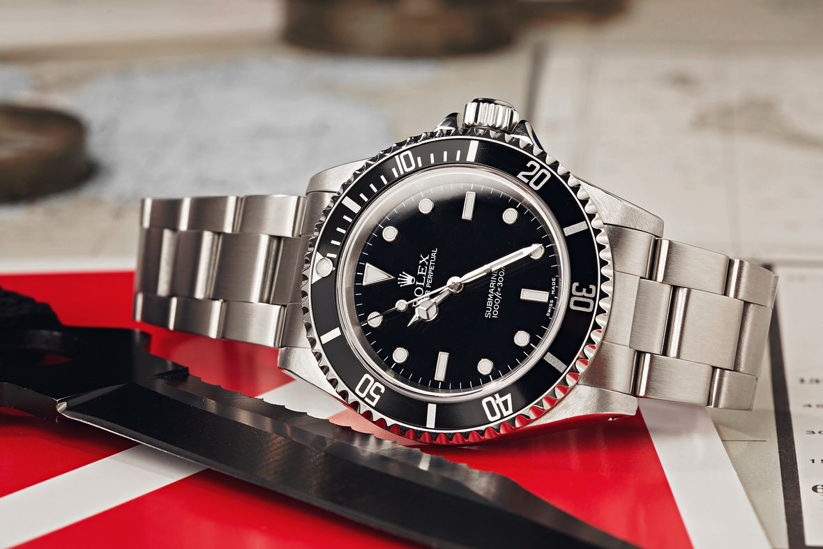How to tell what Rolex Submariner no-date series black dial 14060