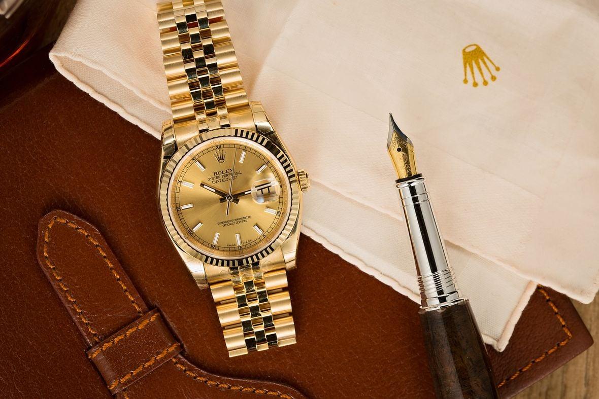 18k Gold Rolex Datejust Watch Jubilee Bracelet Guide