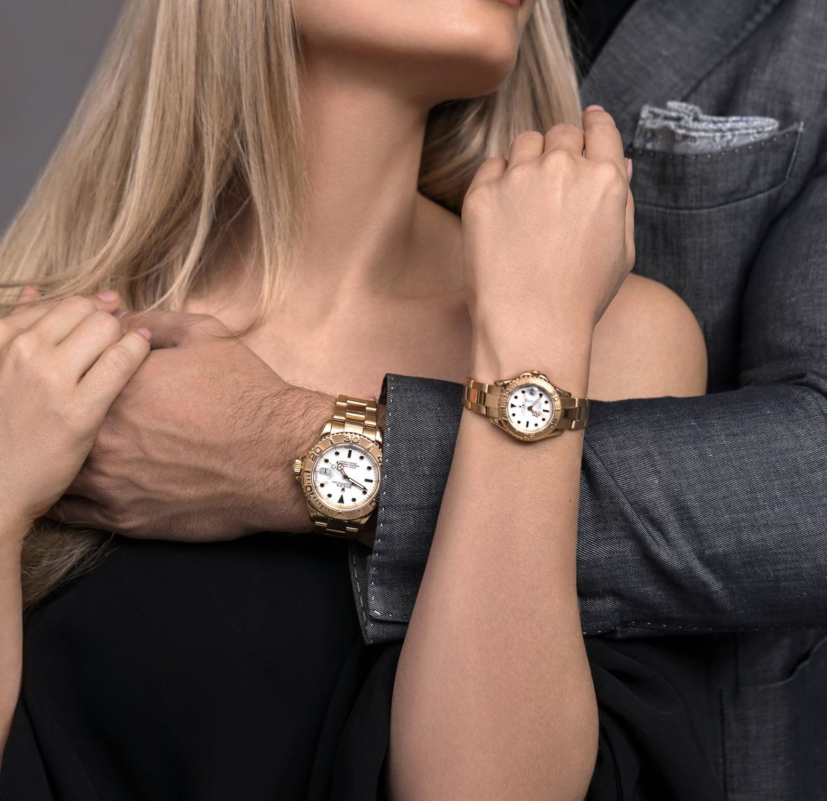 Best Watches for Valentine's Gifts Rolex Yacht-Master Gold His Her