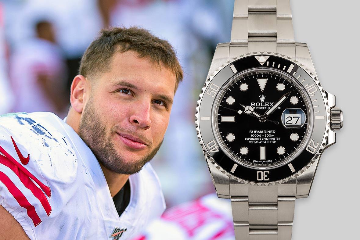 Top NFL Luxury Watches Super Bowl Rolex Submariner Date 116610LN Black