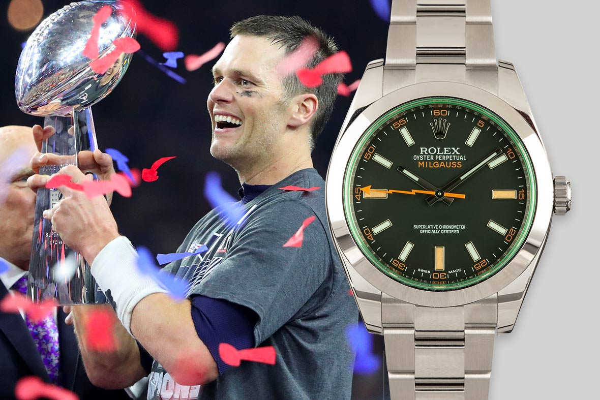 Top NFL Luxury Watches Super Bowl Rolex Milgauss 116400GV Green Sapphire Crystal Black Dial