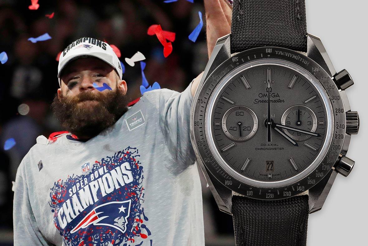 Top NFL Luxury Watches Super Bowl Omega Speedmaster Dark Side of the Moon Black