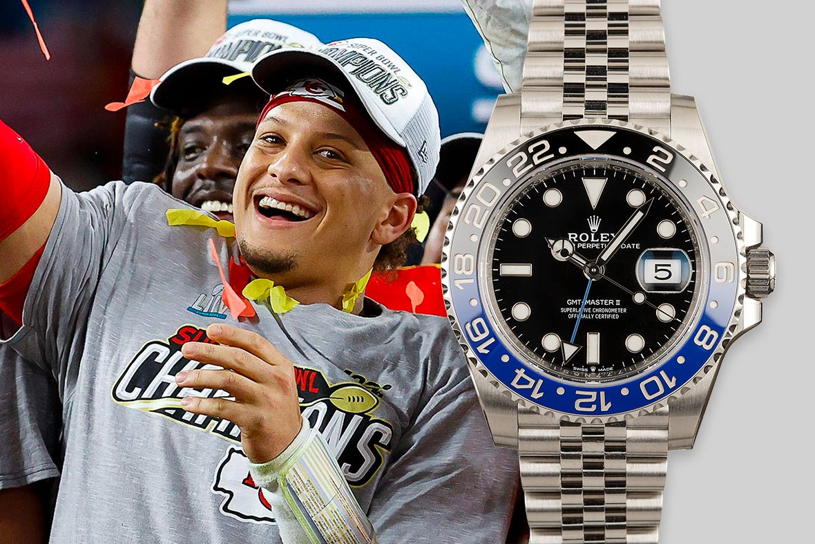 Top NFL Luxury Watches Super Bowl Rolex GMT-Master II 126710BLNR Batman Jubilee Bracelet