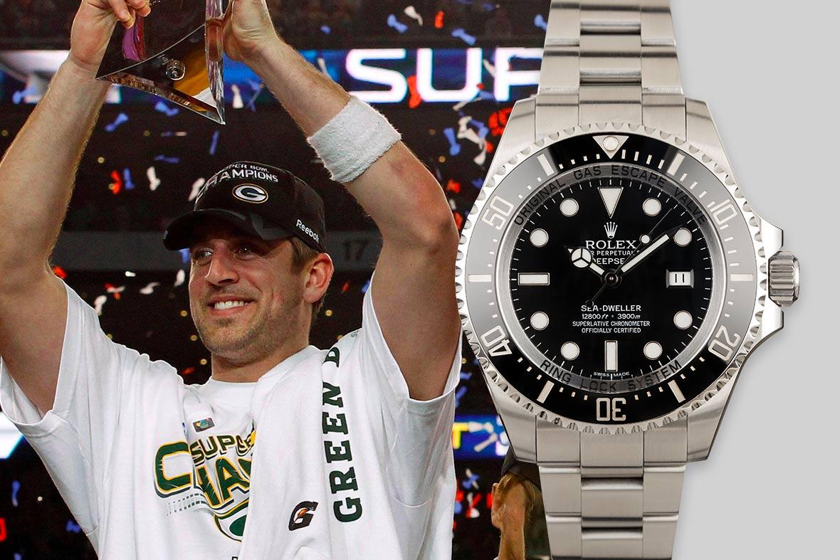 Top NFL Luxury Watches Super Bowl Rolex Deepsea Sea-Dweller 116660 Black Dial
