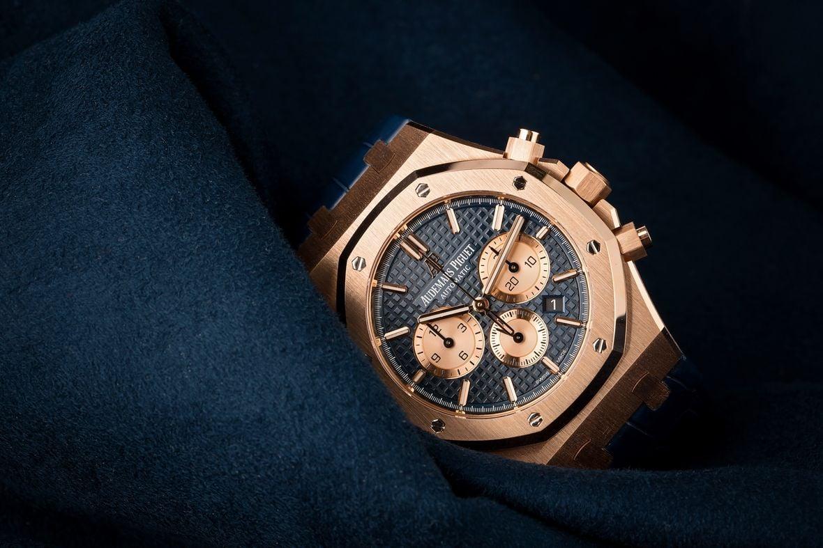 Gold Audemars Piguet Royal Oak Chronograph