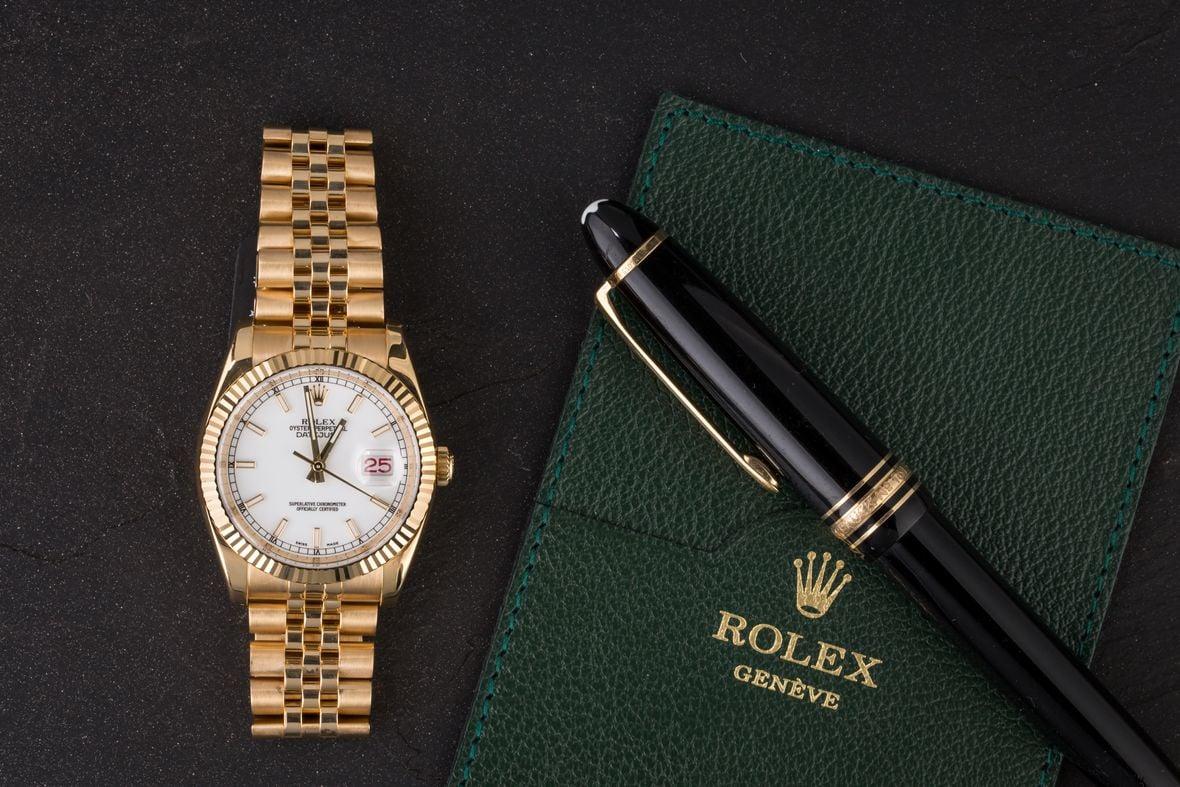 Rolex 116238 Datejust Gold 36mm Jubilee Bracelet