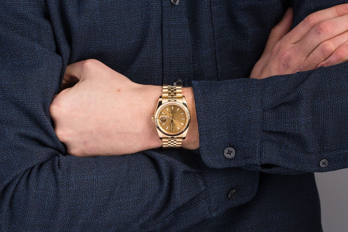 Rolex 116238 Datejust 36 18 Karat Yellow Gold