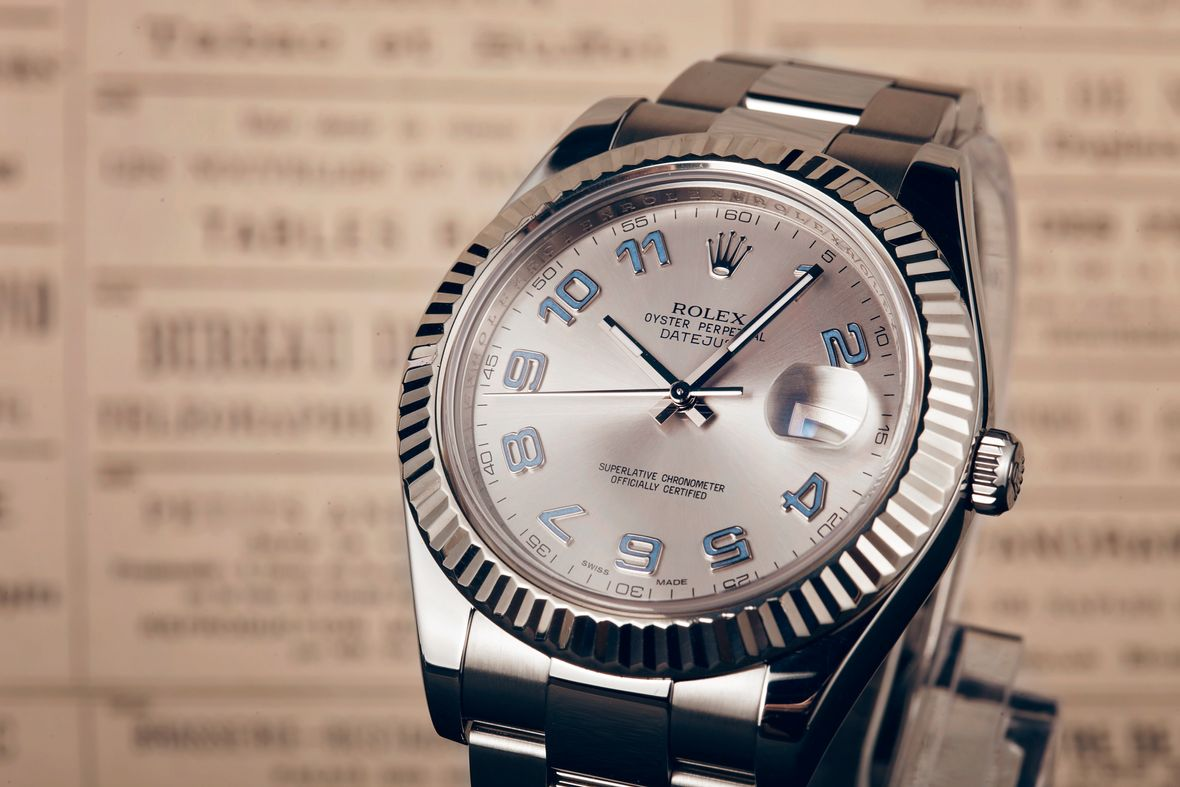 Rolex Datejust II 116234 Fluted Bezel Arabic Dial